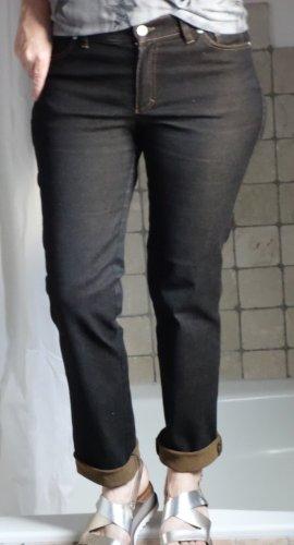 Christian Berg Tube Jeans dark brown-light brown cotton