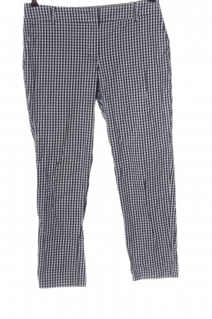 Christian Berg Jersey Pants white-black check pattern casual look