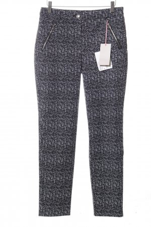 Christian Berg Jersey Pants black-white allover print casual look