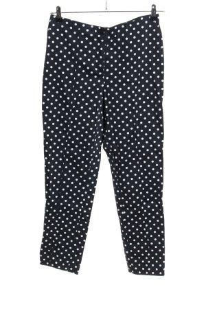 Christian Berg Stretch broek zwart-wit gestippeld patroon casual uitstraling