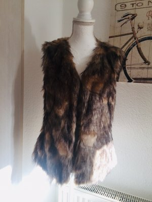 Christian Berg Weste Webpelz Fake Fur