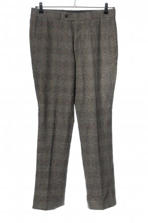 Christian Berg Woolen Trousers brown allover print casual look