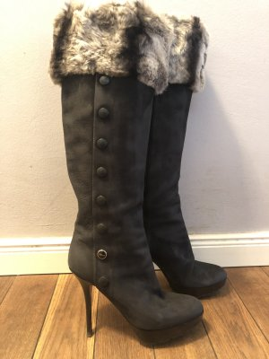 Christian Dior chinchilla boots