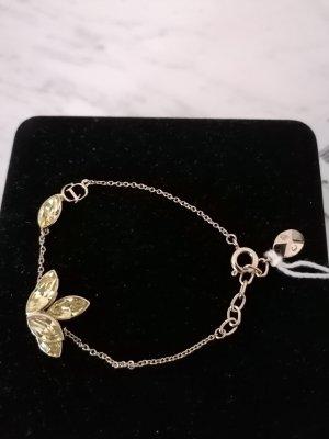 """CHRISTIAN DIOR """"Flower"""" mit goldfarbenem Armband. Wunderschön mit grün-gelblichen  Kristallen. NEU!"""