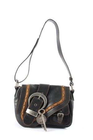 Christian Dior Handtasche schwarz-hellorange Business-Look