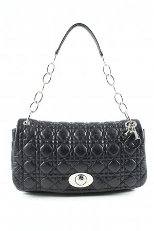 Christian Dior Handtasche schwarz Steppmuster Business-Look