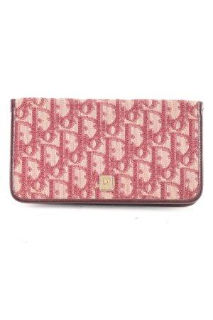 Christian Dior Porte-cartes rose-rose chair imprimé allover style décontracté