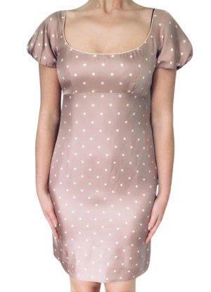 Christian Dior Kurzarmkleid pink-weiß Allover-Druck Elegant