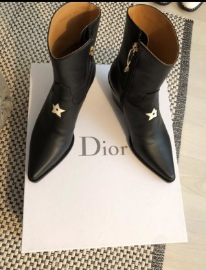 Christian Dior Western Booties black-white