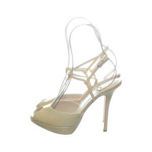 Dior Peep Toe Pumps white-nude leather