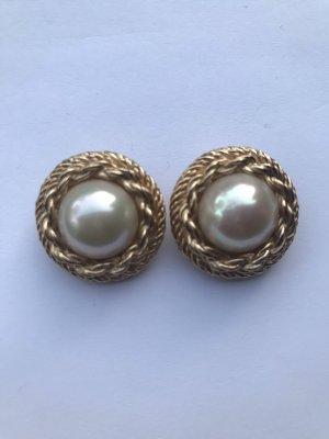 Christian Dior Orecchino di perle bianco-oro