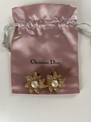 Christian Dior Klips złoto-biały