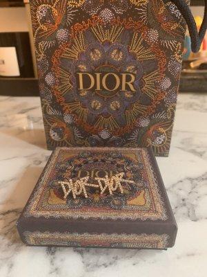 Christian Dior Oorstekers goud-wit