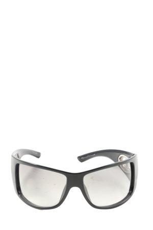 Christian Dior Occhiale da sole ovale nero stile casual