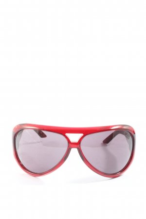 Christian Dior ovale Sonnenbrille rot Casual-Look
