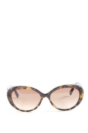 Christian Dior ovale Sonnenbrille braun-hellorange Farbverlauf Casual-Look