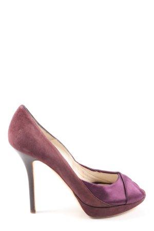 Christian Dior Czółenka z odsłoniętym palcem różowy-fiolet Elegancki