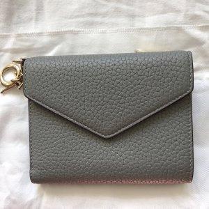 Christian Dior Portemonnaie Leder grau lila
