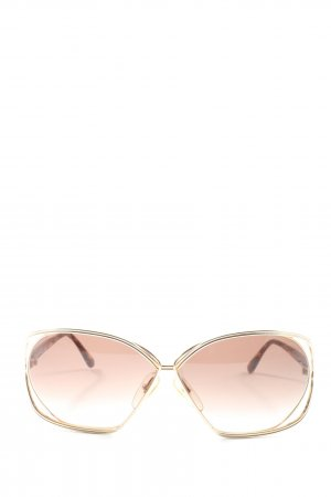 Christian Dior ovale Sonnenbrille braun Casual-Look