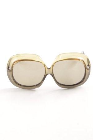 Christian Dior runde Sonnenbrille goldfarben-braun Farbverlauf Casual-Look