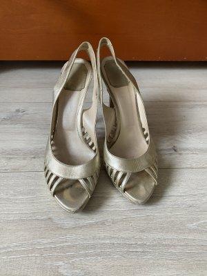 Christian Dior Sandalen Gold 39
