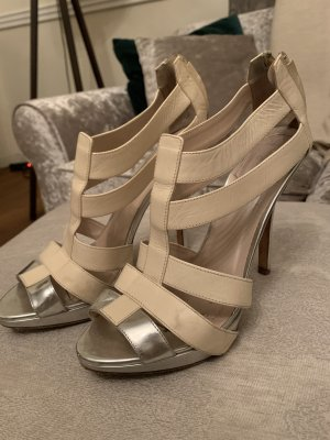 Christian Dior Strapped Sandals oatmeal-silver-colored