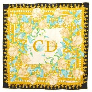 Christian Dior Gebreide sjaal wit Zijde