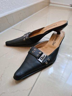 Christian Dior Sling Pumps Spitze Schuhe Gr. 36 in schwarz