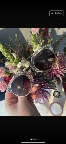 Dior Round Sunglasses silver-colored-black
