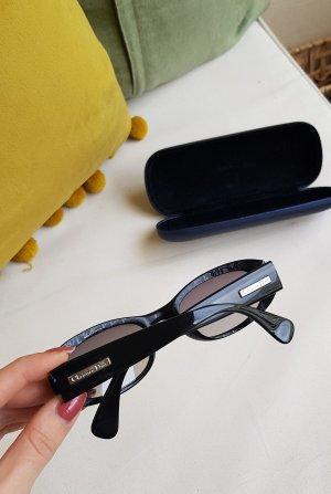 Christian Dior Occhiale stile retro nero-argento