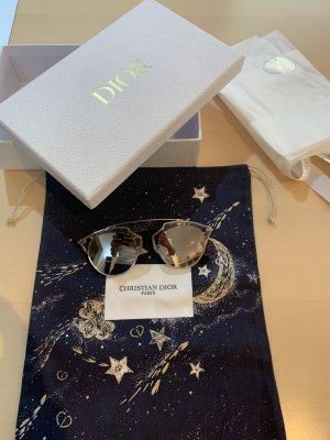 Christian Dior Gafas de sol cuadradas gris claro metal