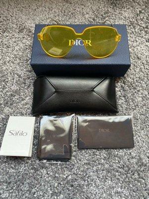 Christian Dior Owalne okulary przeciwsłoneczne żółty