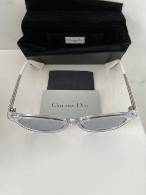 Christian Dior Owalne okulary przeciwsłoneczne srebrny-biały