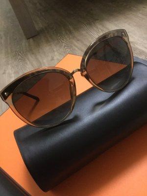 Christian Dior Gafas mariposa marrón-color oro