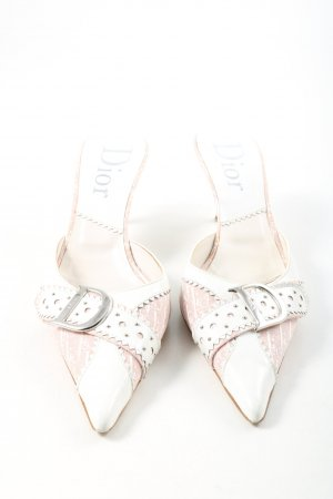 Dior Pointed Toe Pumps white-nude leather