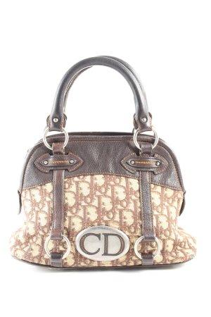 Christian Dior Stofftasche braun-creme Allover-Druck Casual-Look
