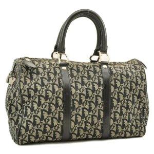 Christian Dior Luggage grey textile fiber