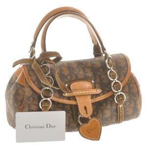Christian Dior Bolso marrón fibra textil