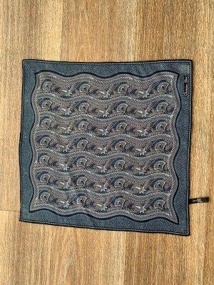 Christian Dior Panno di seta grigio-blu scuro