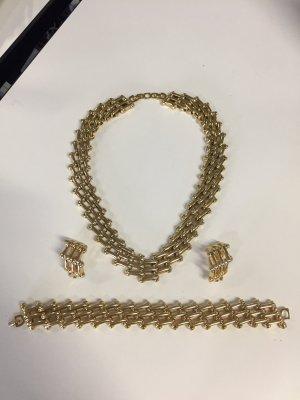 Christian Dior vergoldetes Schmuck-Set