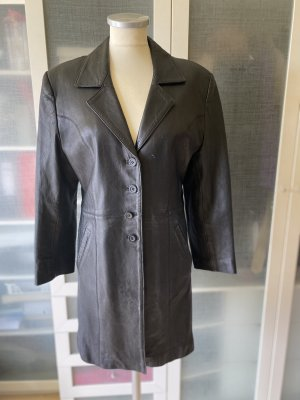 Christian Dior Leather Coat black