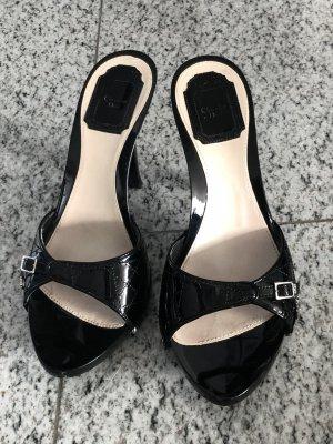 Christian Dior wie neu Holz Pantolette schwarz