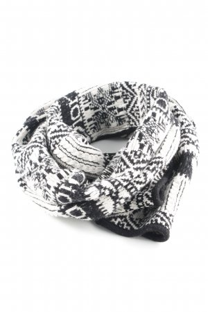 Christian Dior Woolen Scarf black-natural white weave pattern casual look