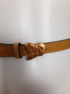 Christian Lacroix Leather Belt sand brown