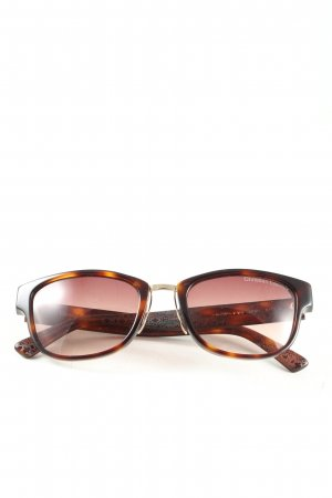 Christian Lacroix Karée Brille braun-hellorange Allover-Druck Casual-Look