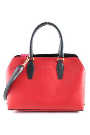 & other stories Henkeltasche rot-schwarz Business-Look