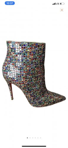 Christian Louboutin Ankle Boot mit Pailletten