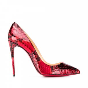 Christian Louboutin Decollete Python Leather Pumps