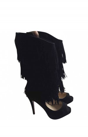 Christian Louboutin High Heel Boots black-red