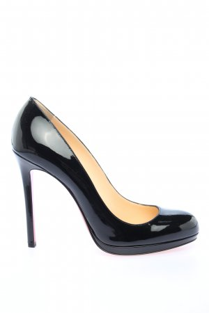 Christian Louboutin High-Front Pumps black wet-look